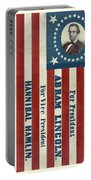Lincoln 1860 Presidential Campaign Banner Portable Battery Charger