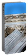 Lincoln County Courthouse Columns Looking Up 01 Portable Battery Charger