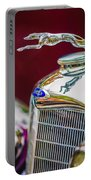 Lincoln Hood Ornament - Grille Emblem -1187c Portable Battery Charger by Jill Reger