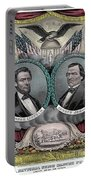 Lincoln Johnson Campaign Poster Portable Battery Charger by Marvin Blaine