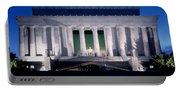 Lincoln Memorial At Dusk, Washington Portable Battery Charger