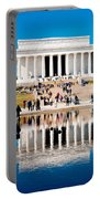 Lincoln Memorial Portable Battery Charger by Greg Fortier