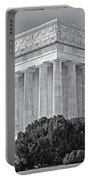 Lincoln Memorial Pillars Bw Portable Battery Charger