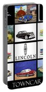 Poster Of Lincoln Cars Portable Battery Charger