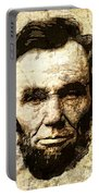 Lincoln Sepia Grunge Portable Battery Charger