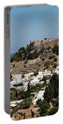Lindos Acropolis Looking Seaward Portable Battery Charger