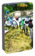 Line Of Bicycles In Park Portable Battery Charger