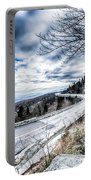Linn Cove Viaduct Winter Scenery Portable Battery Charger
