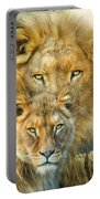 Lion And Lioness- African Royalty Portable Battery Charger