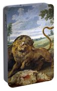 Lion And Three Wolves Portable Battery Charger