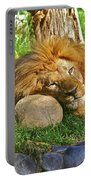 Lion In Repose Portable Battery Charger