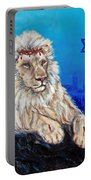 Lion Of Judah Before Jeruselum Portable Battery Charger