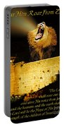 Lion Of Judah Roar From Zion Portable Battery Charger