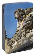 Lion Statue In Bruges Portable Battery Charger