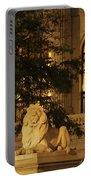 Lion Statue In New York City Portable Battery Charger