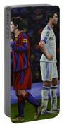 Lionel Messi And Cristiano Ronaldo Portable Battery Charger