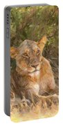 Lioness  Panthera Leo Resting Portable Battery Charger