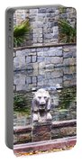 Lions In The Renaissance Court Fountain 2 Portable Battery Charger