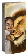 Lion's Kiss Portable Battery Charger by Tamer and Cindy Elsharouni