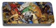 Lions Tigers And Leopard Hunt Homage To Rubens Portable Battery Charger