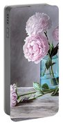 Lisa's Peonies Portable Battery Charger