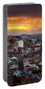 Lisbon At Sunset Portable Battery Charger by Carlos Caetano