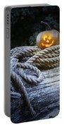 Lit Pumpkin Portable Battery Charger