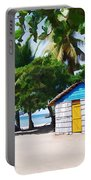 Little Beach Shack Under The Palms Portable Battery Charger