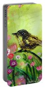 Little Bird In Green Portable Battery Charger