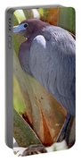 Little Blue Heron Male In Breeding Portable Battery Charger