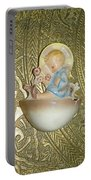 Newborn Boy In The Baptismal Font Sculpture Portable Battery Charger