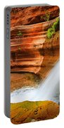 Little Deer Creek Fall Portable Battery Charger by Inge Johnsson