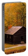 Little Greenbrier Schoolhouse In Autumn  Portable Battery Charger