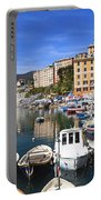 little harbor in Camogli Portable Battery Charger