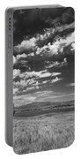 Little Prarie Big Sky - Black And White Portable Battery Charger