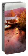 Little River Bridge At Sunset Gatlinburg Portable Battery Charger