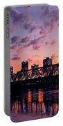 Little Rock Bridge Sunset Portable Battery Charger