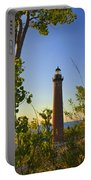 Little Sable Lighthouse Seen Through The Trees Portable Battery Charger