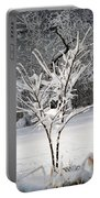 Little Snow Tree Portable Battery Charger by Karen Adams