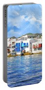 Little Venice On Mykonos Portable Battery Charger