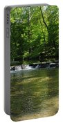 Little Waterfall At Green Lane Pa. Portable Battery Charger