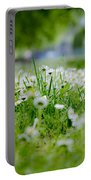 Little White Flowers II Portable Battery Charger