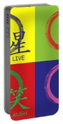 Live Laugh Love Luck Portable Battery Charger