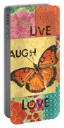 Live Laugh Love Patch Portable Battery Charger