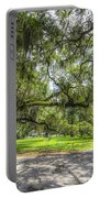 Live Oaks Dripping With Spanish Moss Portable Battery Charger