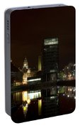 Liverpool Docks At Night Portable Battery Charger