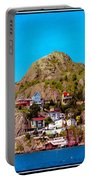 Living On The Edge Of The Battery Painterly Triptych Portable Battery Charger