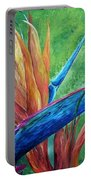 Lizard On Bird Of Paradise Portable Battery Charger