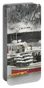 Lobster Boats After Snowstorm In Tenants Harbor Maine Portable Battery Charger by Keith Webber Jr