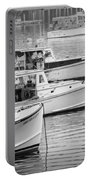 Lobster Boats In Bass Harbor And Bernard Maine  Portable Battery Charger